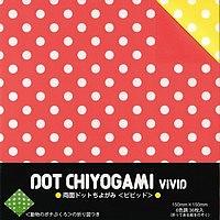 papier pois bicolore 6 coul papier origami motifs chiyogami papier origami japonais. Black Bedroom Furniture Sets. Home Design Ideas